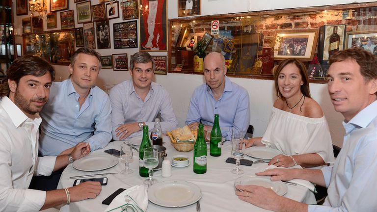 Salvai, De Andreis, Peña, Larreta, Vidal y Santilli