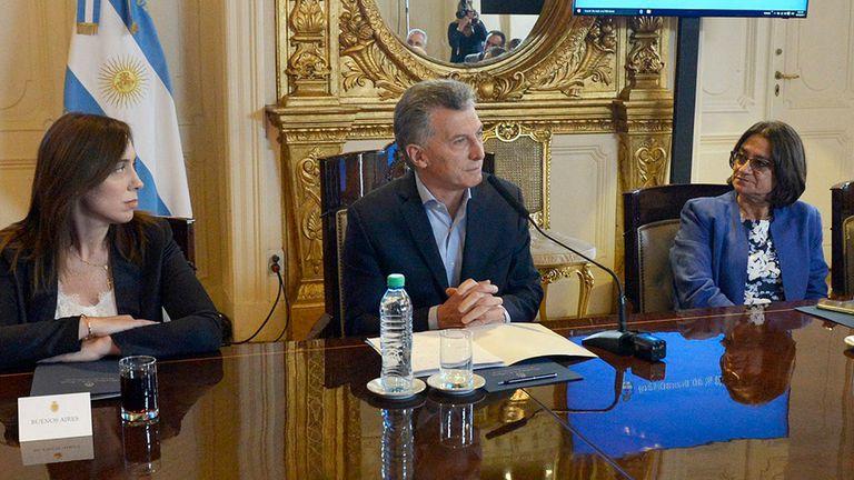 Macri dio una conferencia tras el acuerdo con los gobernadores