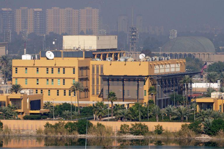 La embajada norteamericana en la Zona Verde de Bagdad