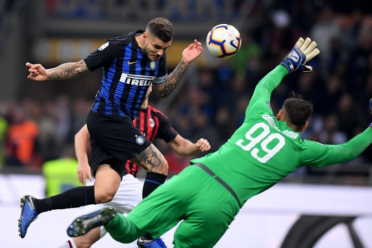Icardi define el clásico de Milán ante la mala salida de Donnarumma