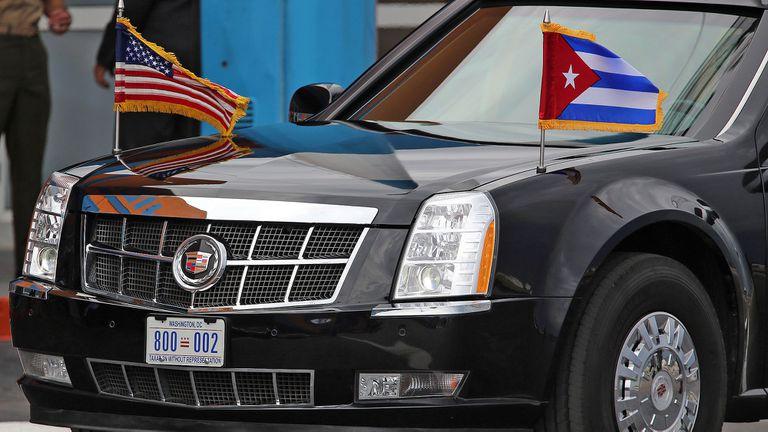 La empresa acompañó en tres oportunidades a La Bestia, el auto blindado en el que se trasladan los presidentes de los Estados Unidos