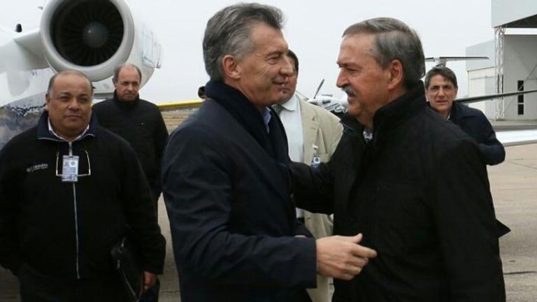 Mauricio Macri junto al gobernador de Córdoba, Juan Schiaretti