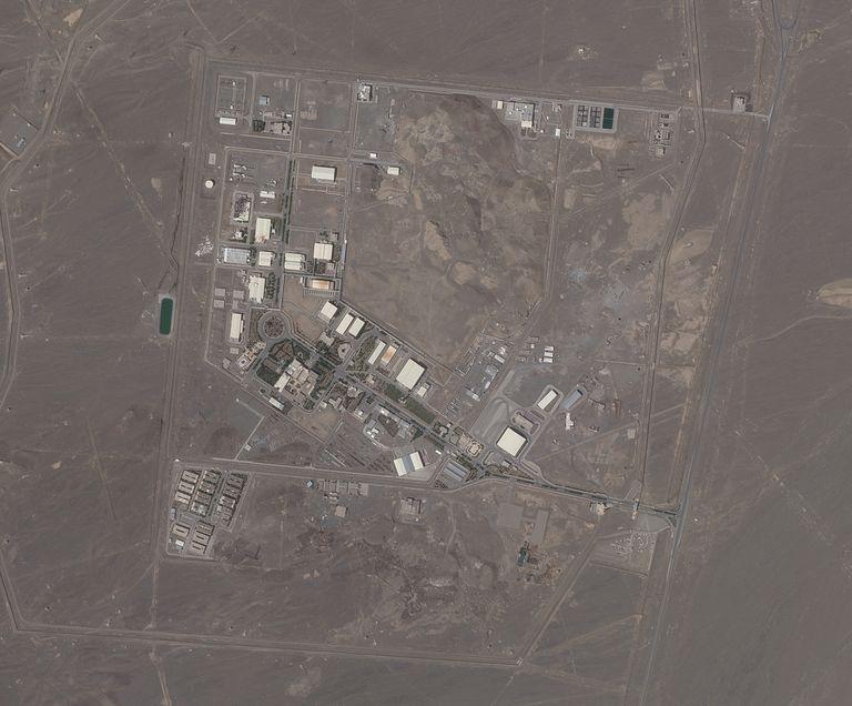 Una imagen satelital de Planet Labs Inc. muestra la planta nuclear de Natanz, en Irán, el 14 de abril de 2021. (Planet Labs vía AP)