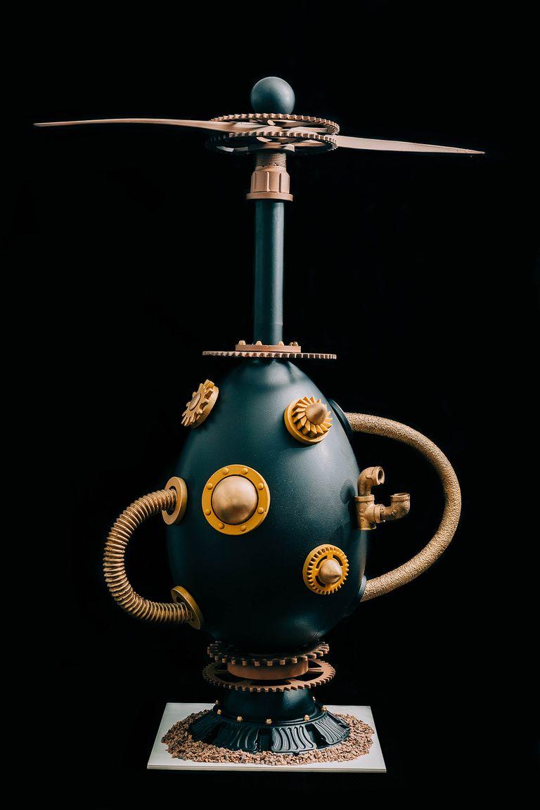 La machine, otro original huevo diseñado para las Pascuas