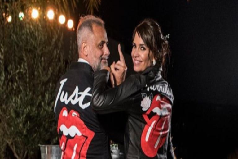 Las camperas vestidas por Jorge y Romina Pereiro son similares a las lucidas por Kim y Kanye West hace unos años.