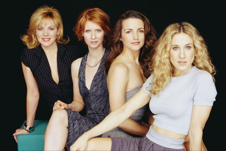 Las cuatro protagonistas de Sex and the City en 2001
