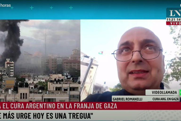 """El testimonio de un cura argentino en la Franja de Gaza: """"Esto es una guerra sucia"""""""