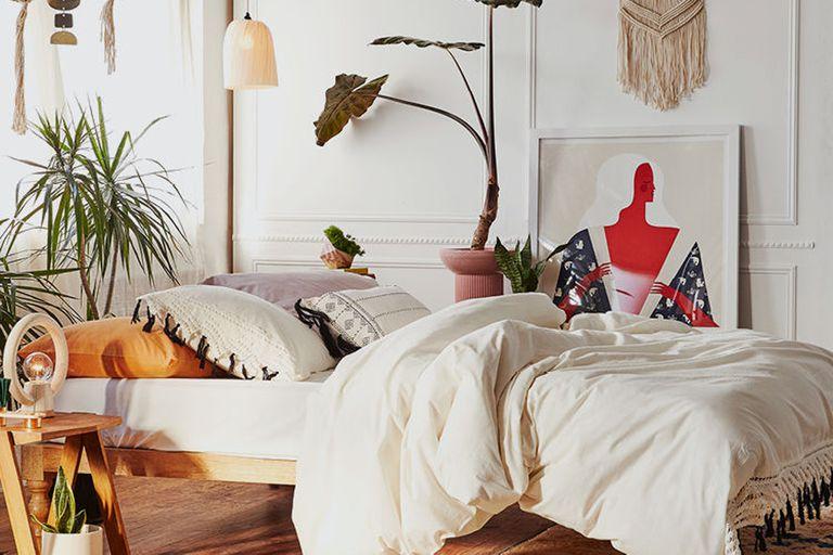 Relax en tonos claros y muchas plantas
