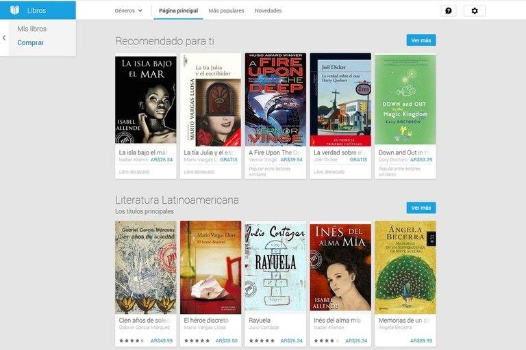 La tienda de libros electrónicos de Google comenzó a funcionar en la Argentina