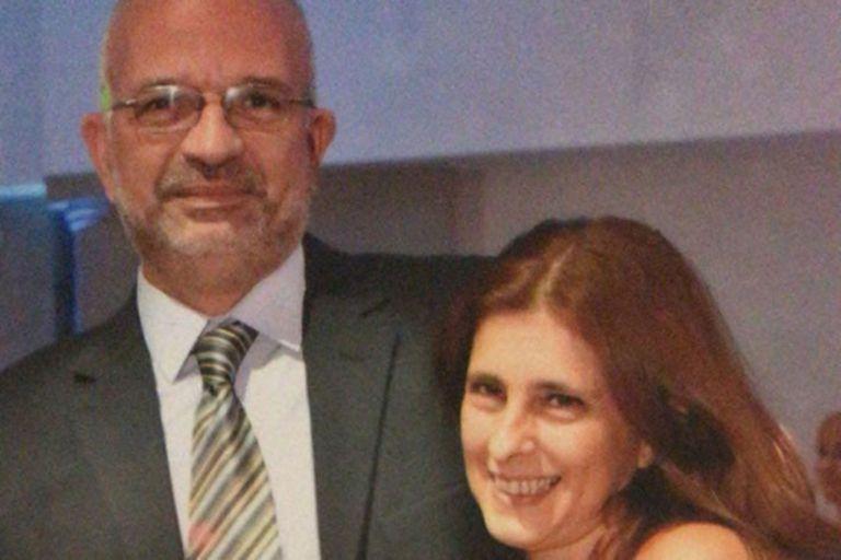 Lucrecia Augier y Miguel Morandini, fallecido en el derrumbe del ex cine teatro Parravicini hace un año