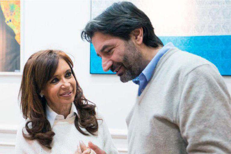 Pablo Carro junto a Cristina Kirchner