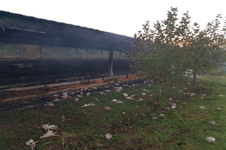 El establecimiento incendiado se encuentra a 15 kilómetros de Colonia Caroya