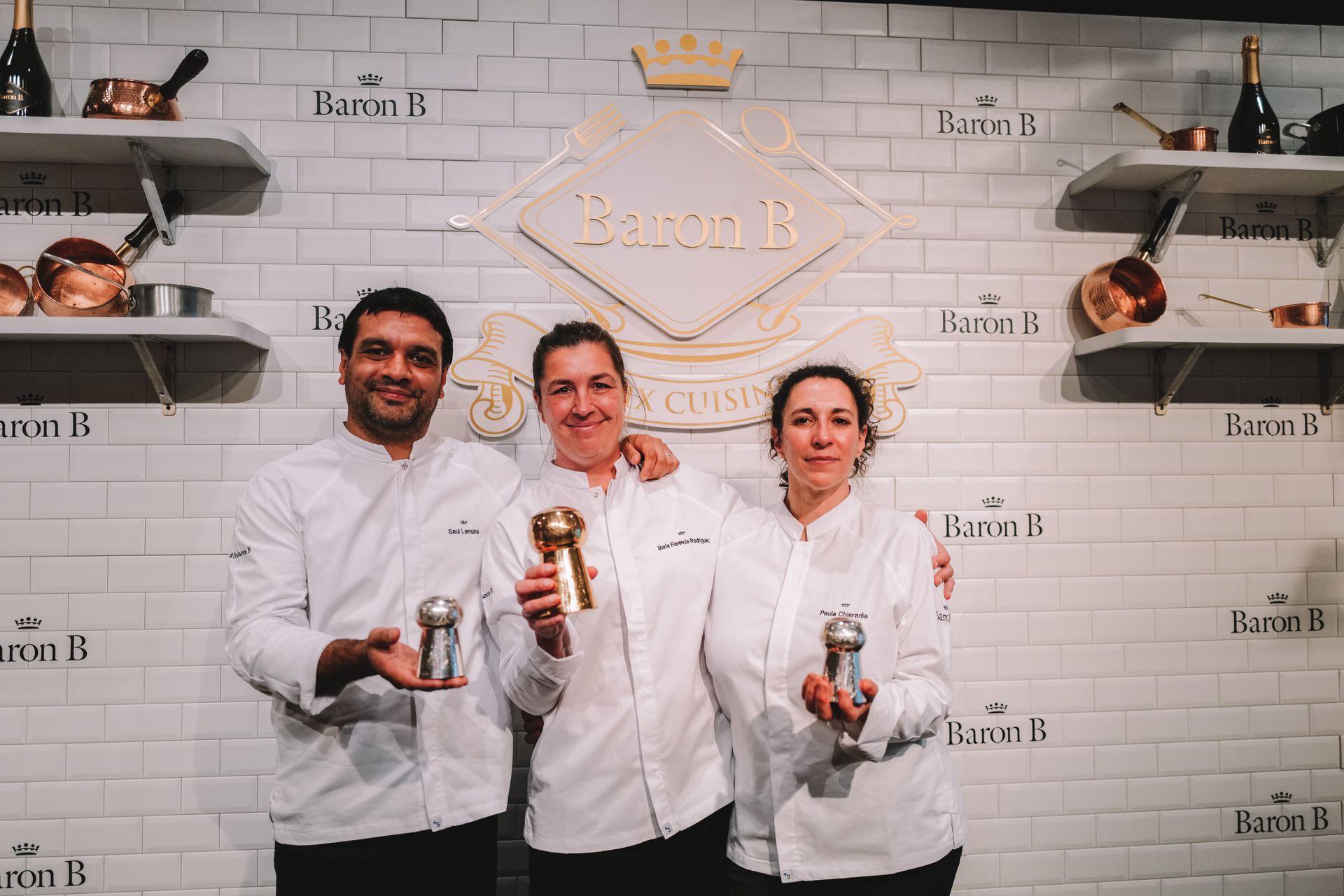 Los tres finalistas: Saúl Lencina, María Florencia Rodríguez y Paula Chiaradia.
