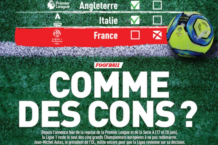 """""""¿Como idiotas?"""": las fuertes críticas en Francia por dar terminada la Ligue 1"""