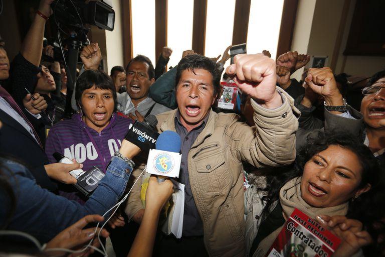 El nuevo presidente electo Pedro Castillo por el partido político Perú Libre