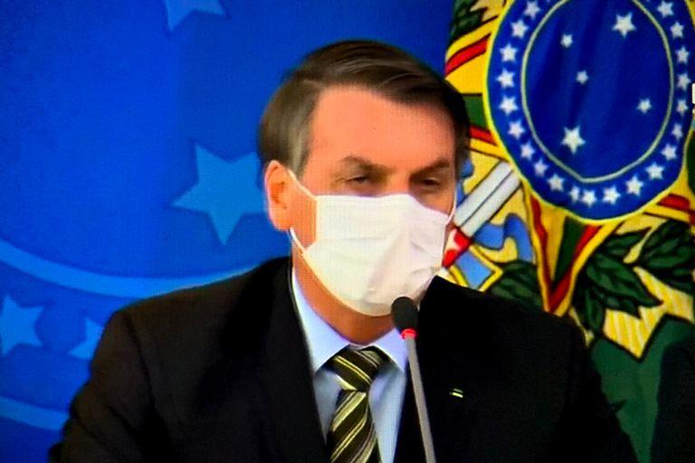 Bolsonaro, en una conferencia de prensa reciente