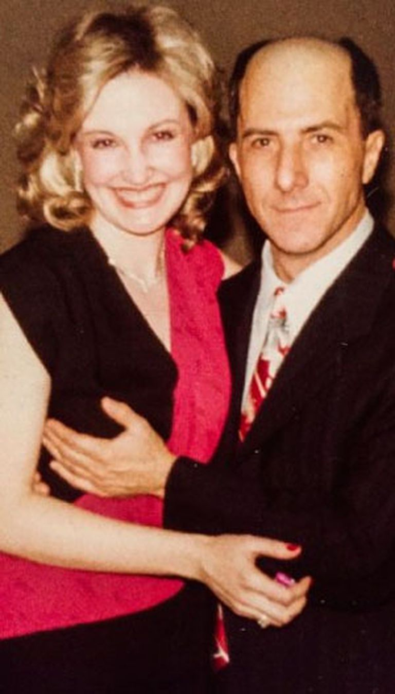 Rossetter y Hoffman, en una foto tomada después de una función teatral