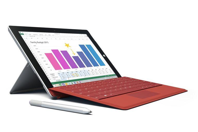 La Surface 3 tiene una pantalla de 10,8 pulgadas, chip Atom de cuatro núcleos y una funda opcional que suma un teclado completo
