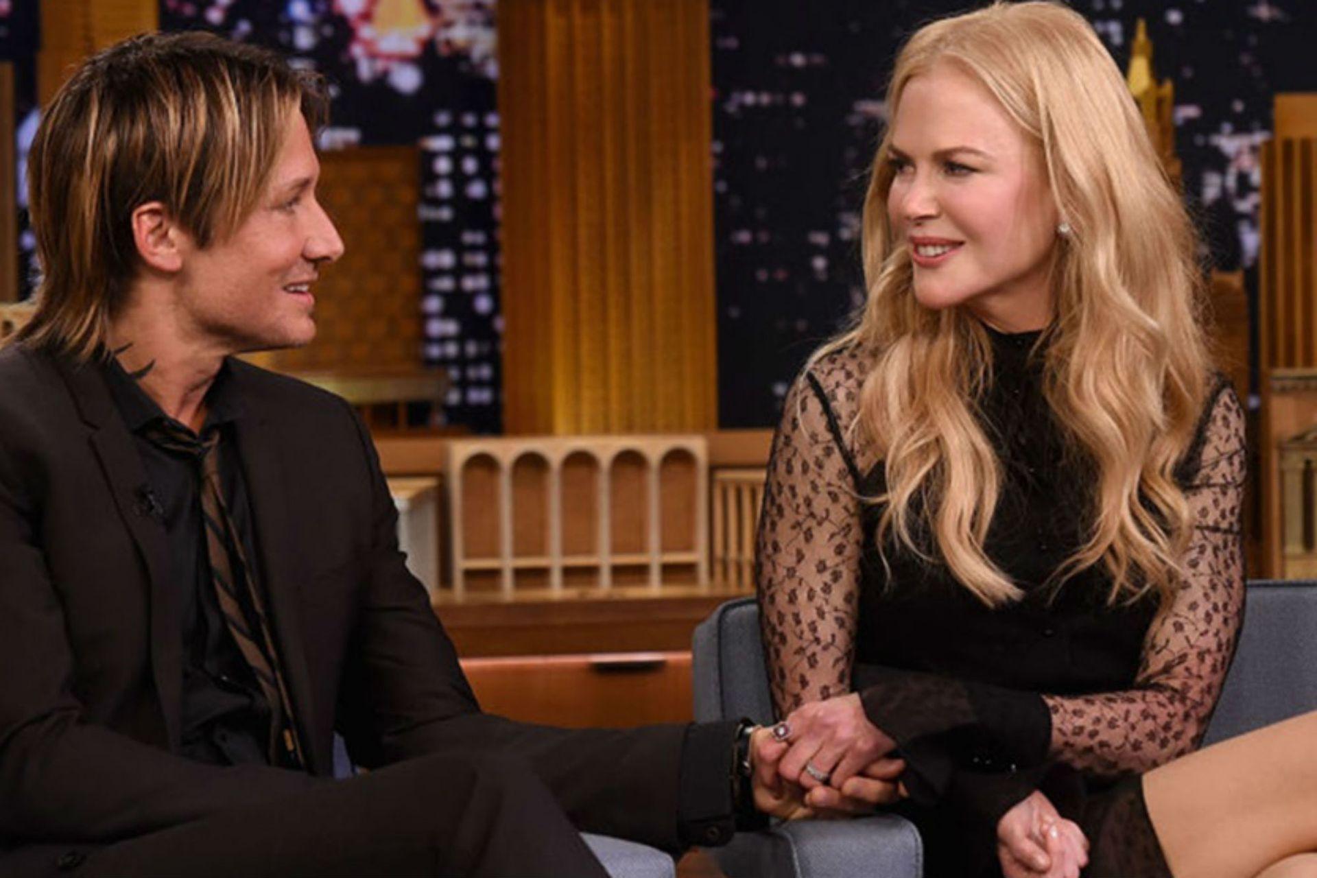 Keith Urban y Nicole Kidman, en una de las tantas entrevistas que compartieron juntos