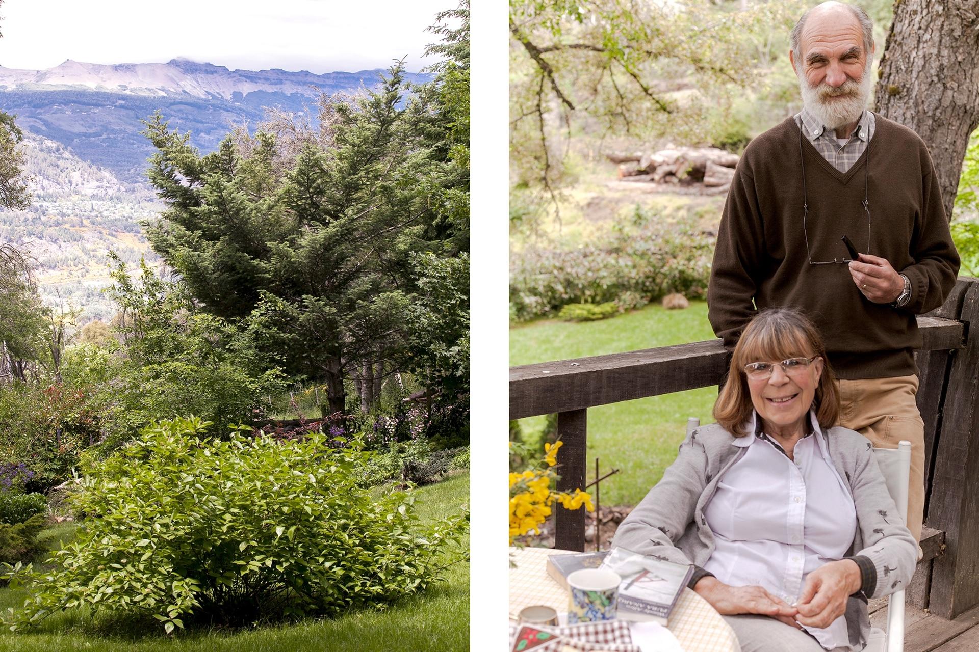 """""""Tuvimos que ralear en algunas zonas para tener una explanada y disfrutar de las vistas. A los dos nos encanta trabajar el jardín: desde que nos mudamos que lo estamos armando"""", nos contaron Luis y Marta."""