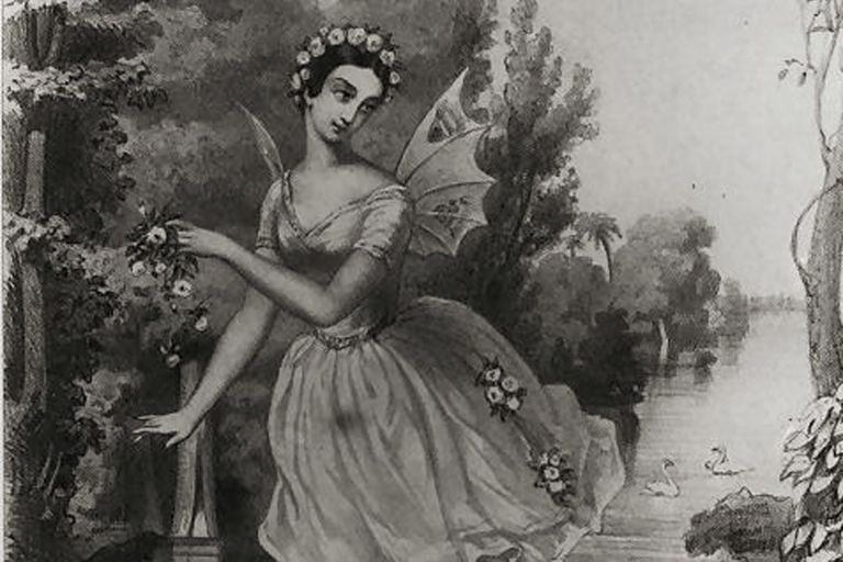 La imagen que nos llega 180 años después de Carlotta Grissi, la primera bailarina en ponerle el cuerpo a la célebre Giselle