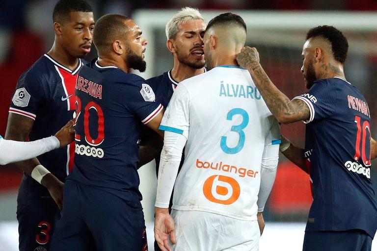 Escándalo. Neymar, Benedetto y Paredes, expulsados en la dura caída de PSG