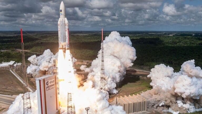Un cohete Ariane 5 despegó en noviembre de la Guyana francesa con cuatro satélites para el sistema Galileo