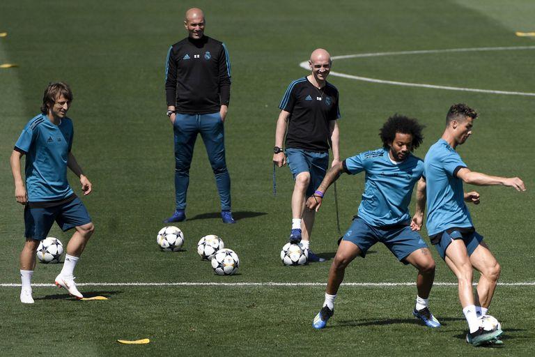 Modric, Marcelo y Cristiano Ronaldo, antes de la final de la Champions: los tres irán al Mundial