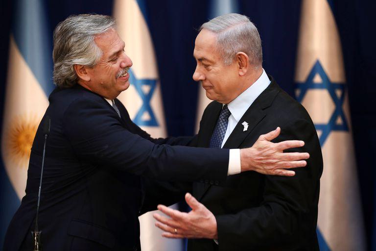 El presidente y el primer ministro israelí, Benjamin Netanyahu, ofrecieron una declaración conjunta