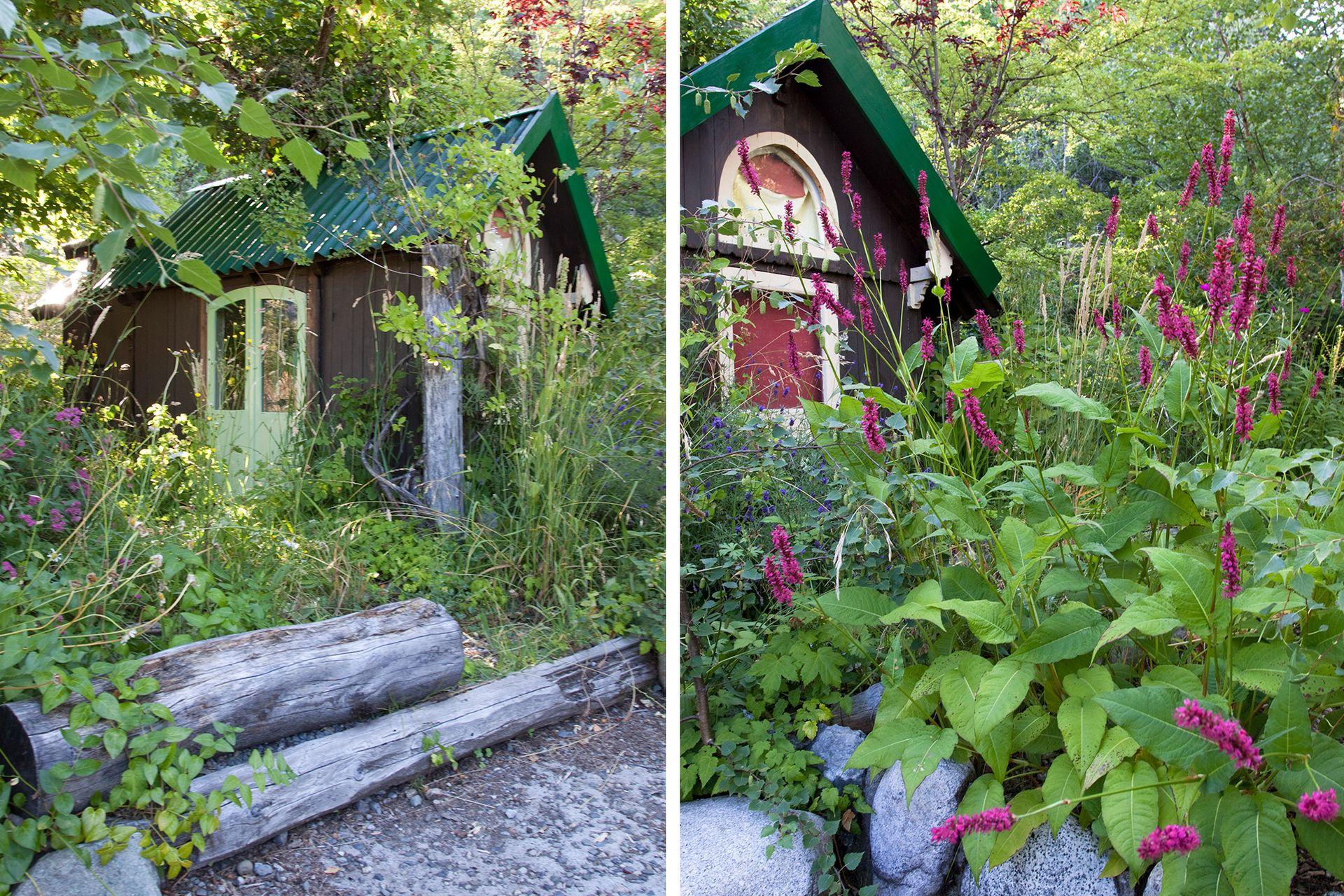 La antigua casa de muñecas de los hijos de Sylvette hoy es un cuarto de huéspedes auxiliar.