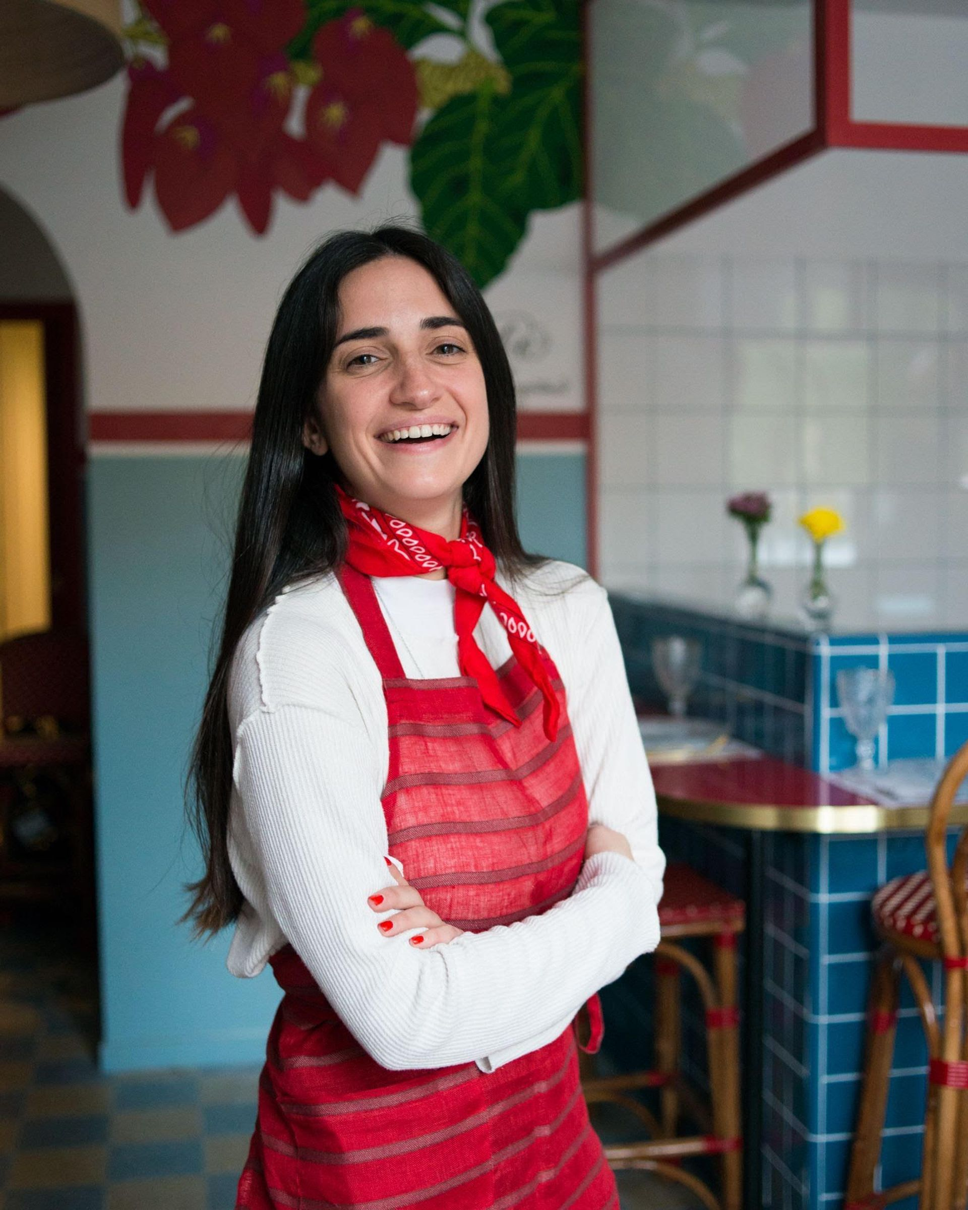 María Florencia Claps, hija de Ernesto, trabaja con su marido y su padre en el restaurante Ceibo.