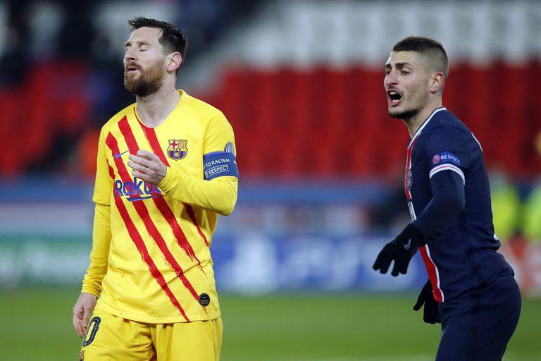 La decepción de Lionel Messi, que marcó el gol del empate, pero falló un penal en un instante clave del partido.