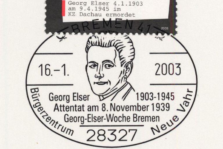 """Después de poco más de cinco años de penurias, Elser fue ejecutado de un disparo en la nuca, el 9 de abril de 1945. Un sello postal lleva impresa su frase más famosa: """"Quise evitar la guerra""""."""