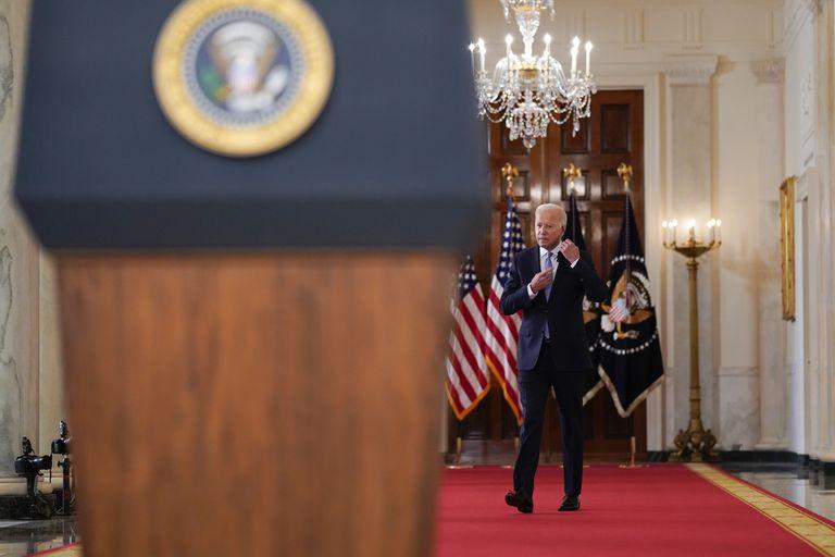 La llegada del presidente antes de empezar si discurso