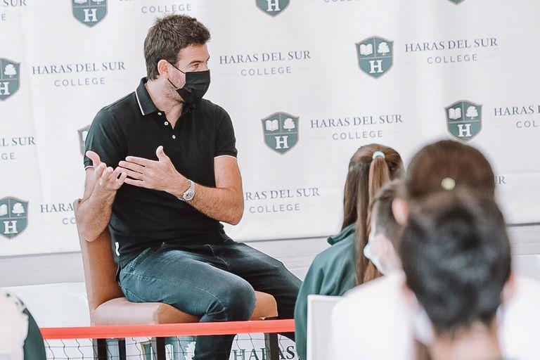 Juan Martín Del Potro se hizo presente en Haras del Sur College para darle la bienvenida a los alumnos y motivarlos en este nuevo período