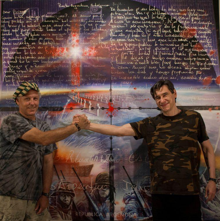 La carta que envió un soldado de Malvinas e inspiró las pinturas de su amigo