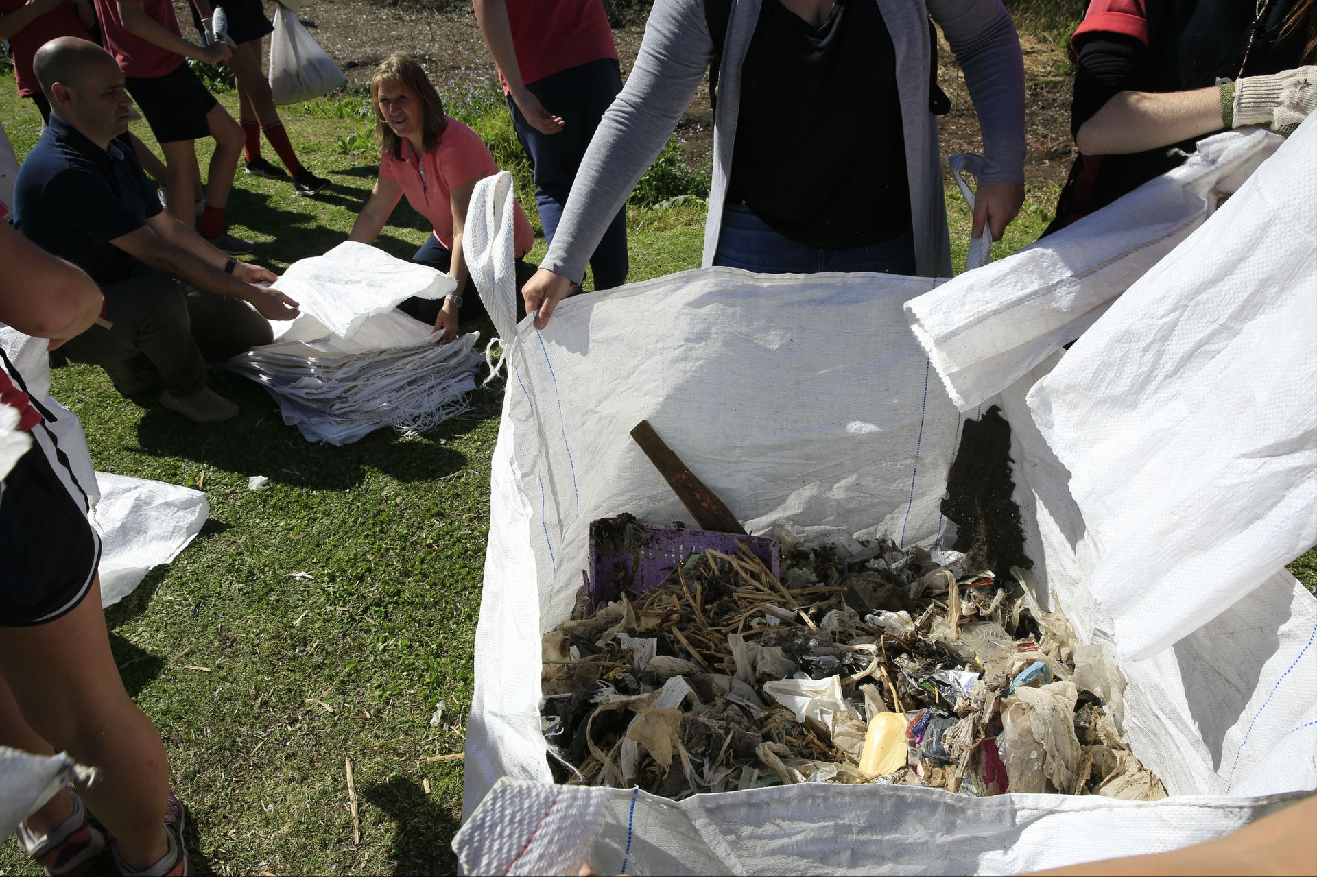 Parte de la basura hallada en la costa