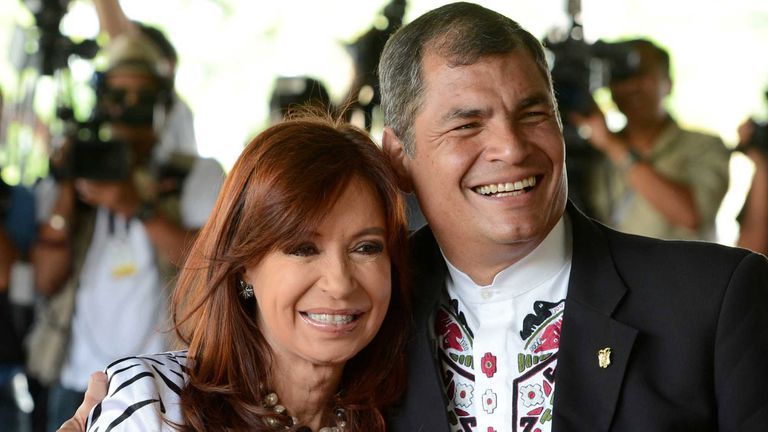 Cristina Kirchner y Rafael Correa