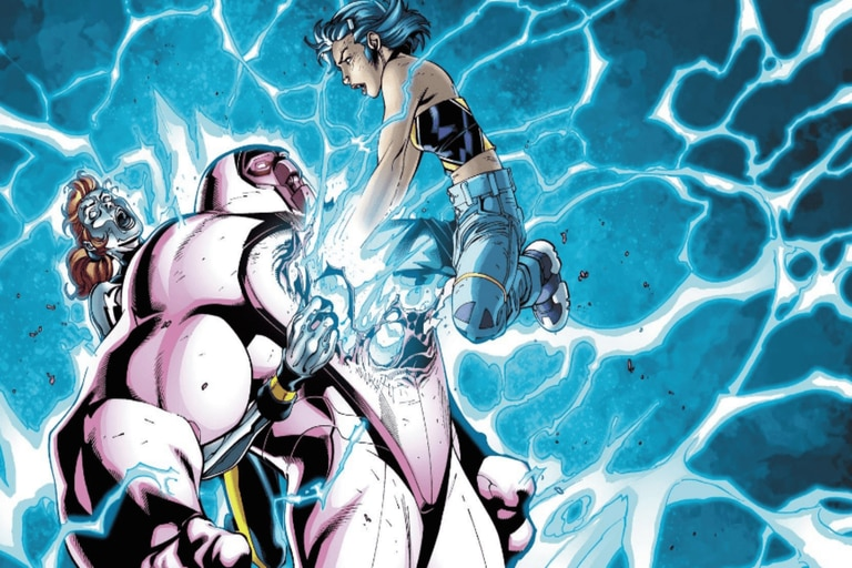 Surge desplegando su poder contra Nimrod, un villano que todavía no apareció en cine.