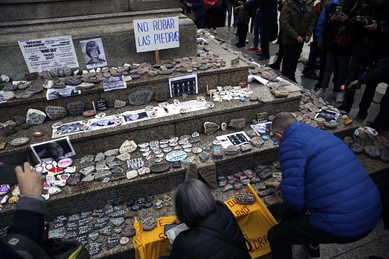 Marcha de las Piedras en Plaza de Mayo. Sábado 4 de septiembre de 2021