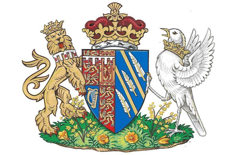 """El diseño """"personal y representativo"""" del escudo de armas incluye una corona especial, así como otros elementos simbólicos que reflejan el origen estadounidense de Meghan"""