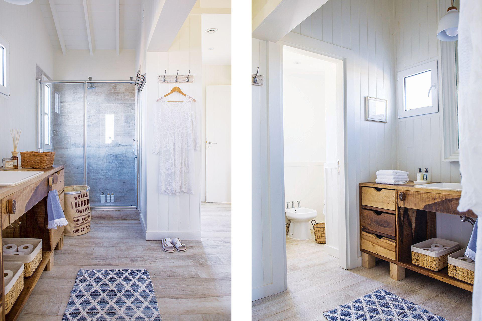 Mueble de guayubira (Lorenzo Cañete para Constructora VZ). Tapete y toallas (Blanquita Home). Mamparas, sanitarios y grifería (Navarro Ache).