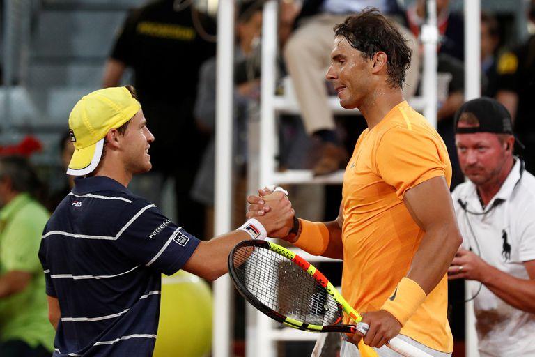 Schwartzman perdió ante Rafael Nadal y quedó eliminado de Madrid