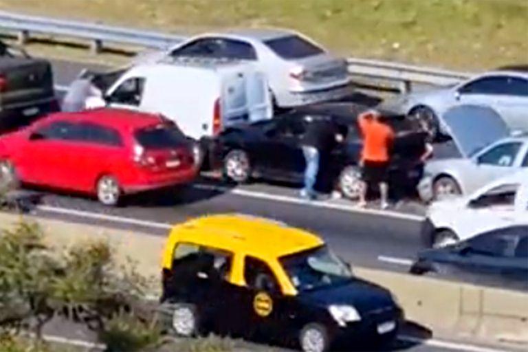 Choque múltiple en la General Paz: al menos dos heridos