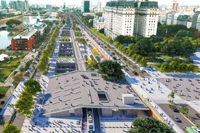 Parque del Bajo: cómo es la obra verde que se inaugura en el centro porteño