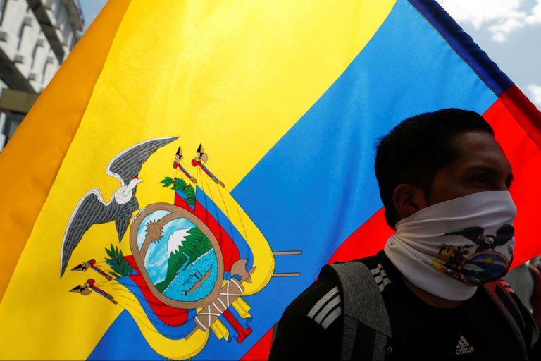 Manifestante en Quito