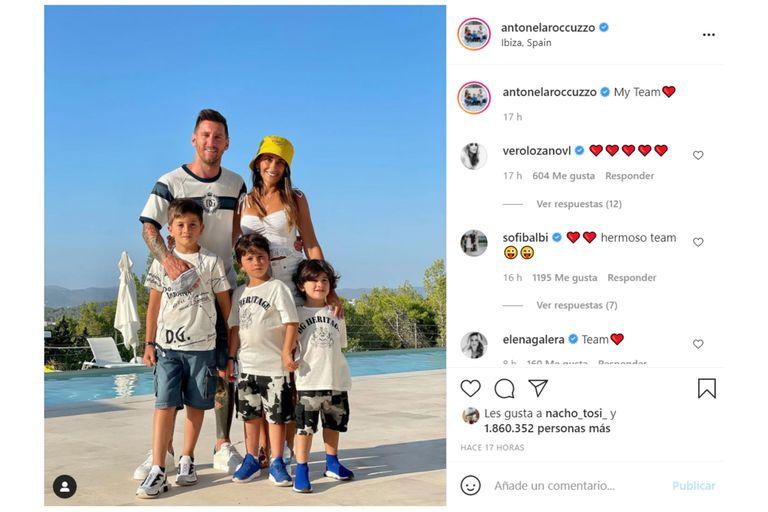Para despedir el verano, Antonela compartió una última foto en la que reveló el equipo del cuál es hincha