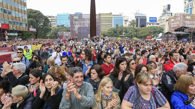 El concierto gratuito fue el producto de un compromiso que asumió Barenboim con el jefe de Gobierno de la Ciudad