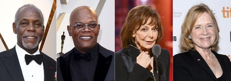 Glover, Jackson, May y Ullmann, los cuatro distinguidos este año con el Oscar honorario.