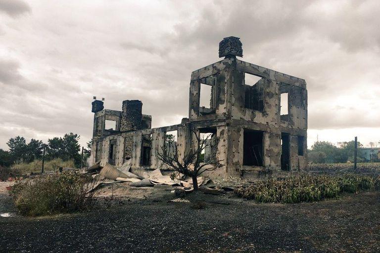 El fuego consumió la casa